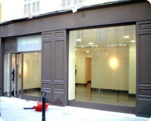 remplacement de vitrine Paris 1